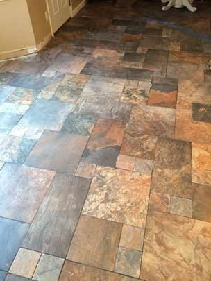 Custom Tile Flooring Living Room
