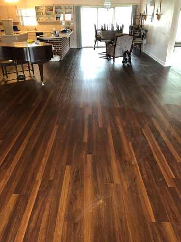 Custom Living Room Tile Open Room Wood-like appearance